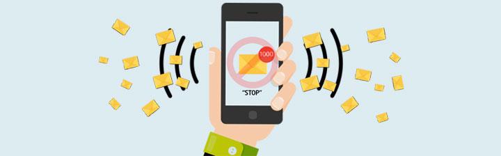 روش جلوگیری از پیامک های تبلیغاتی